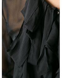 Coast + Weber + Ahaus - Black Sheer Ruffle Blouse - Lyst