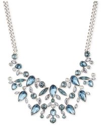 Givenchy | Silver-tone And Blue Stone Bib Necklace | Lyst