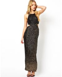 ASOS | Black Diamond Back Embellished Maxi Dress | Lyst