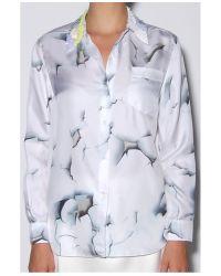 3.1 Phillip Lim | White Embellished Collar Shirt | Lyst