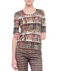 Akris - Gray Bobines-print Open Reversible Jacket - Lyst