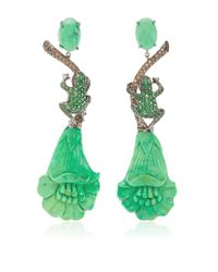 Lydia Courteille | Green One Of A Kind Amazonia Earrings | Lyst