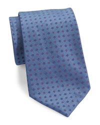 Calvin Klein | Blue Polka Dotted Silk Tie for Men | Lyst