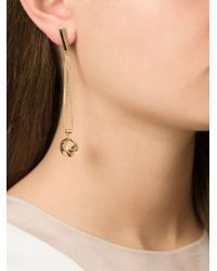 Lara Bohinc | Metallic 'planetaria' Drop Earrings | Lyst