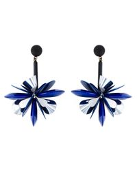 Erika Cavallini Semi Couture   Blue Flower Drop Earrings   Lyst