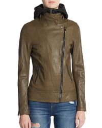 Mackage - Natural Kiera Leather Hooded Jacket - Lyst