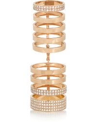 Repossi | Metallic Berbère 18-karat Rose Gold Diamond Ring | Lyst