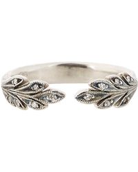 Cathy Waterman - Metallic Women's Diamond & Platinum Leaf Band - Lyst