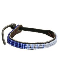 Chan Luu | Blue Adjust Beaded Pattern Single Bracelet | Lyst