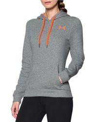 Under Armour | Gray Rival Fleece Hoodie | Lyst