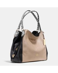 COACH | Natural Edie 31 Color-Blocked Shoulder Bag | Lyst