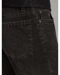 John Varvatos - Brown Slim Fit Jean W Horn Shank Button for Men - Lyst
