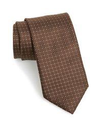 Canali - Brown Dot Silk Tie for Men - Lyst