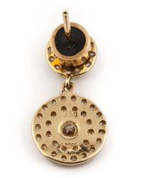 Ileana Makri | Metallic Double 'solitaire' Diamond Earrings | Lyst