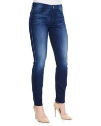 Jen7 - Blue Skinny Denim Jeans - Lyst