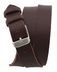 ASOS   Brown Asos Wraparound Leather Watch for Men   Lyst