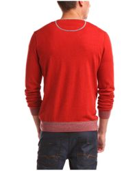 BOSS Orange - Red Sweater 'kornelio' In A Cotton Blend for Men - Lyst