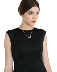 Ted Baker - Metallic Bow Detail Necklace - Lyst