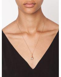 Eddie Borgo | Metallic Pavé Bud Drop Pendant Necklace | Lyst