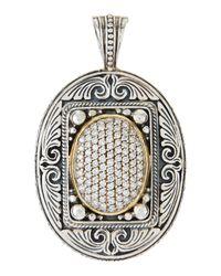 Konstantino - Metallic Extra-large Oval Diamond Pave Enhancer - Lyst