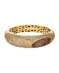 Roberto Coin | Metallic 18k Diamond Capriplus Bangle Bracelet | Lyst