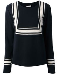 Chloé | Blue Round Neck Sweater | Lyst