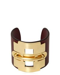 Tod's | Purple Leather And Metal Horse Bit Bracelet | Lyst
