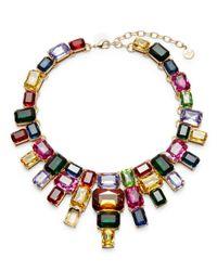 R.j. Graziano | Multicolor Multi-colored Crystal Bib Necklace | Lyst