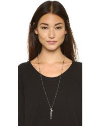 Chan Luu - Beaded Charm Necklace - Black Sardonyx - Lyst