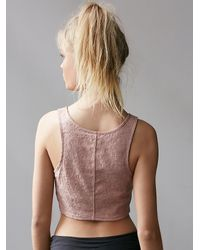 Free People | Pink Fp Movement Womens Warm Up Dance Crop | Lyst