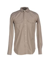 Boglioli - Gray Shirt for Men - Lyst