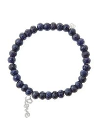 Sydney Evan - Blue 6Mm Faceted Sapphire Beaded Bracelet With 14K White Gold/Diamond Love Charm (Made To Order) - Lyst