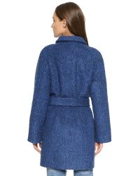 Ganni | Blue Washington Street Coat | Lyst