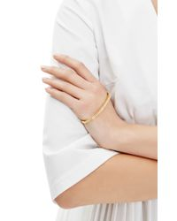 Fallon | Metallic Goldplated and Crystal Pave Palm Cuff Bracelet | Lyst