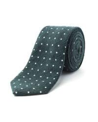 Racing Green - Green Voysey Spot Tie for Men - Lyst