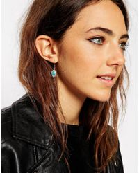 ASOS - Blue Festival Enamel Drop Earrings - Lyst