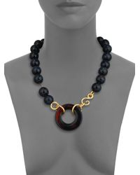 Stephanie Kantis | Lush Brown Agate & Blue Tiger's Eye Beaded Necklace | Lyst