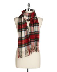 Lord & Taylor | White Tartan Plaid Scarf | Lyst