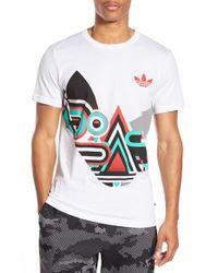 Adidas Originals | White Graphic Crewneck T-shirt for Men | Lyst