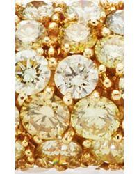 Nina Runsdorf   Metallic One Of A Kind 18k Yellow Gold Diamond Bangle   Lyst