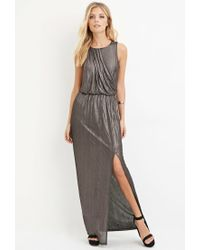 Forever 21 - Contemporary Metallic Maxi Dress - Lyst