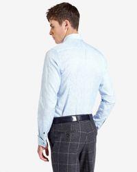 Ted Baker - Blue Floral Jacquard Shirt for Men - Lyst
