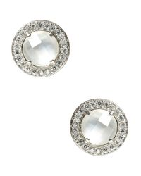 Nadri | Metallic Mother-of-pearl And Sterling Silver Stud Earrings | Lyst