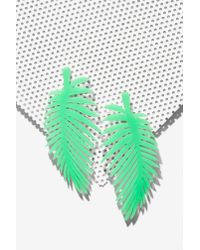 Nasty Gal | Green Melody Ehsani Leaf It Out Earrings | Lyst