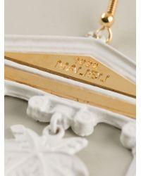 Malibu 1992 | White Column Detail Earrings | Lyst