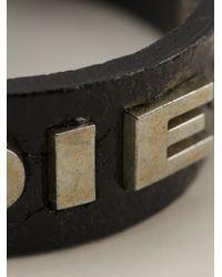DIESEL - Black Logo Bracelet for Men - Lyst