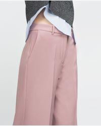 Zara | Pink Culottes | Lyst