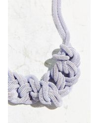 Urban Outfitters - Purple Museum Walls Knotted Necklace - Lyst