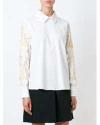 Vivetta - White Embroidered Blouse - Lyst