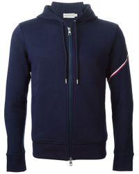 Moncler | Blue Hooded Sweatshirt for Men | Lyst